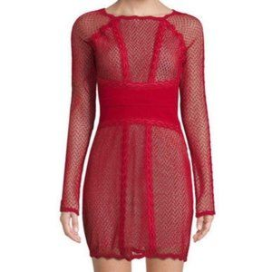 NWT Free people lace and mesh bodycon dress